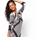 Daily Deal: Geometric Scarf Print Dress