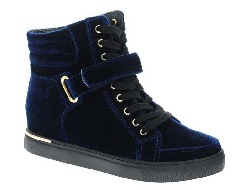 ASOS Ditto Velvet Sneakers
