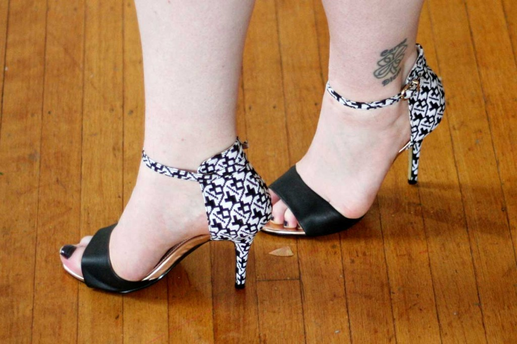 Lilly Printed Heels from Boohoo