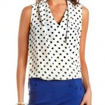 Daily Deal: Polka Dot Draped Wrap Shirt
