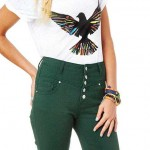 Daily Deal: Green High-Waist Skinny Jeans