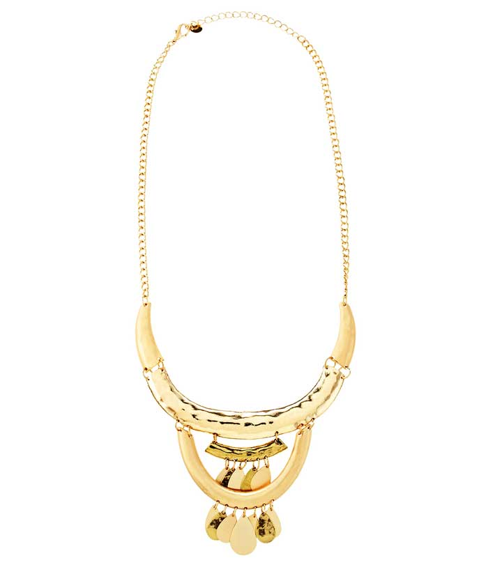 Panacea Golden Statement Necklace