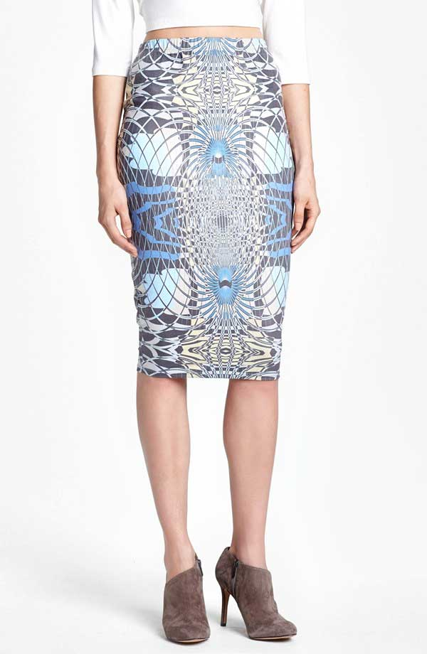 Daily Deal: Leith Geometric Pattern Pencil Skirt • Broke and Beautiful