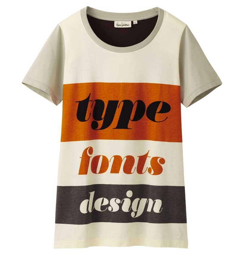 Type Fonts Design shirt from Uniqlo