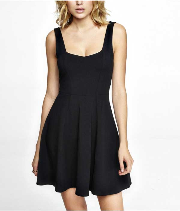 EXPRESS LIttle Black Corset Dress