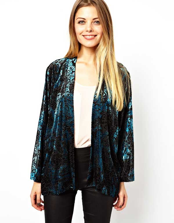 ASOS Velvet Kimono Blazer