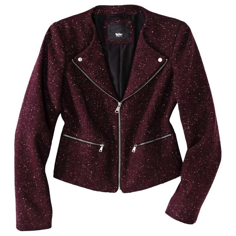 Mossimo Tweed Motorcycle Jacket