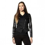 Daily Deal: Faux Leather Sleeve Moto Jacket