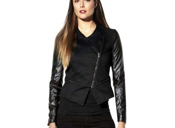 Mossimo Black Faux Leather Jacket