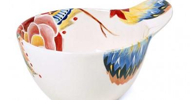 Vida by Espana Rose Print Handle Bowl