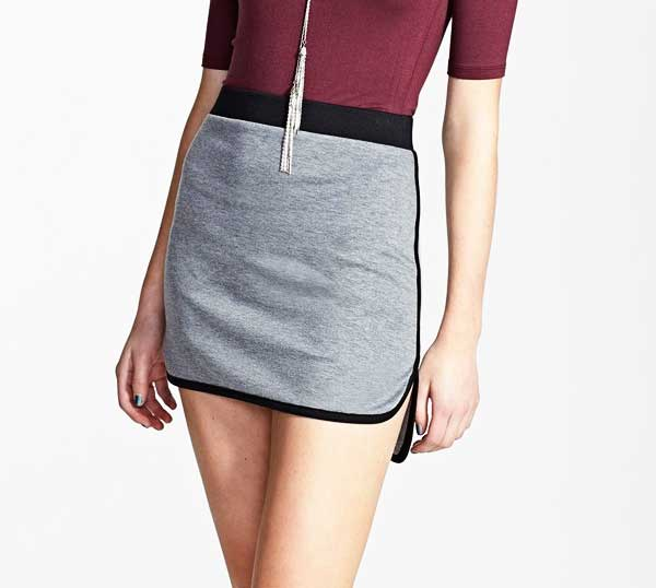 Painted Threads Contrast Mini Skirt