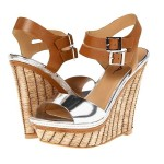 Daily Deal: MIA Strut Wedges in Silver & Tan