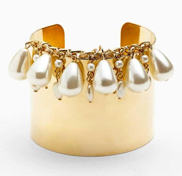 Tildon Pearl & Gold Cuff