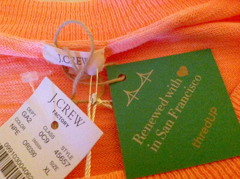 j. crew sweater from thredup - tags still on and $12!