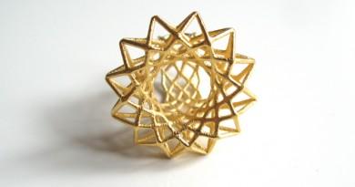 Mixlay Gold 3D Printed Ring