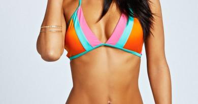 boohoo chili colorblock bikini