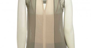 Daily Deal: Design History Color Block Lace Tank: Back