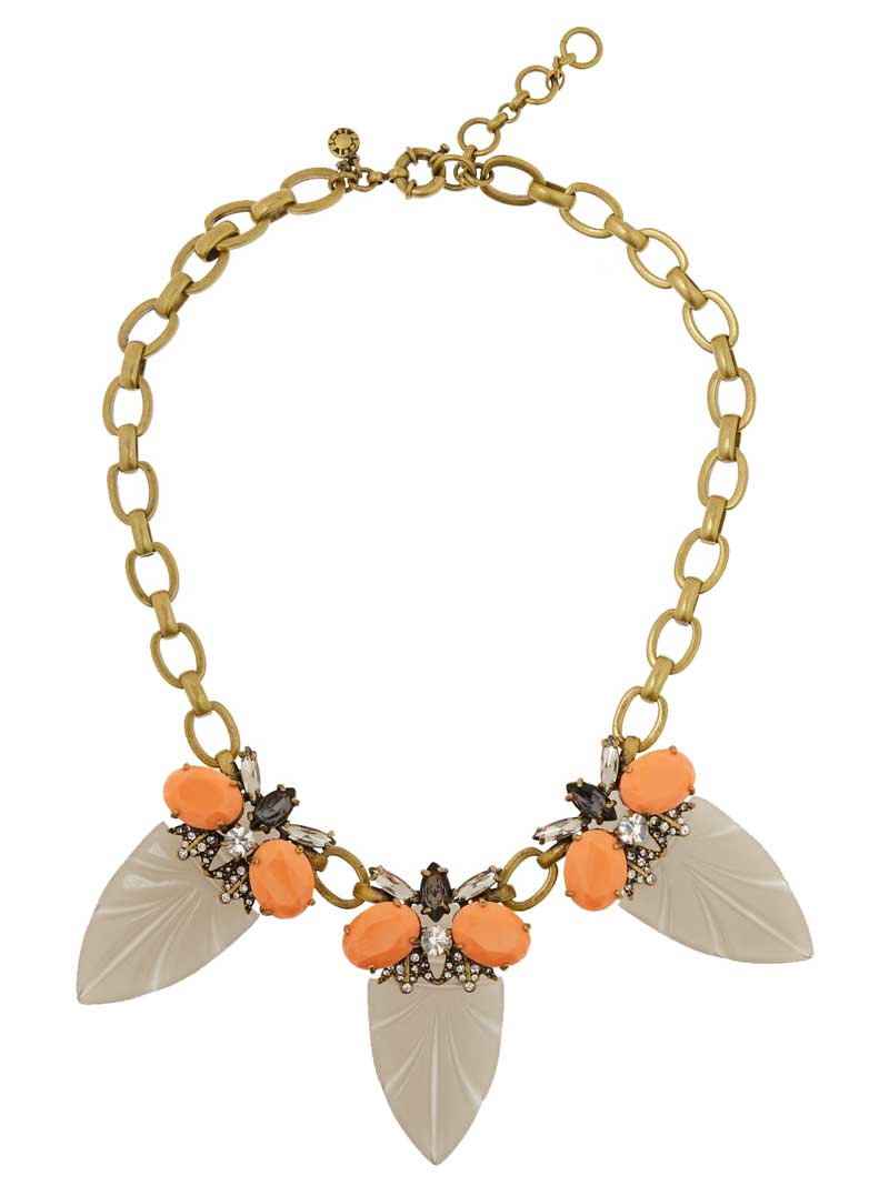 Daily Deal: J. Crew Arrowhead Gold-Tone Cubic Zirconia Necklace