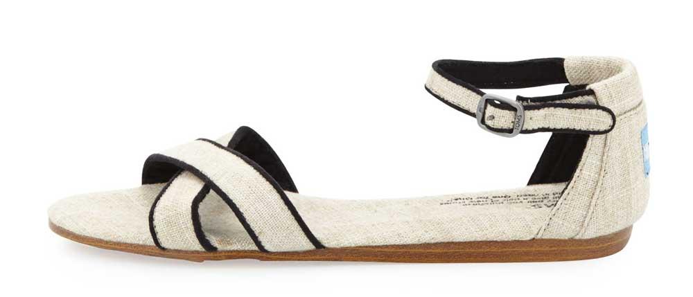 The Best Minimalist Sandals: TOMS Correa Criss Cross Sandals