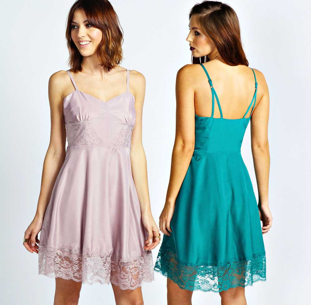 Daily Deal: Boohoo Lace Slip Skater Dress