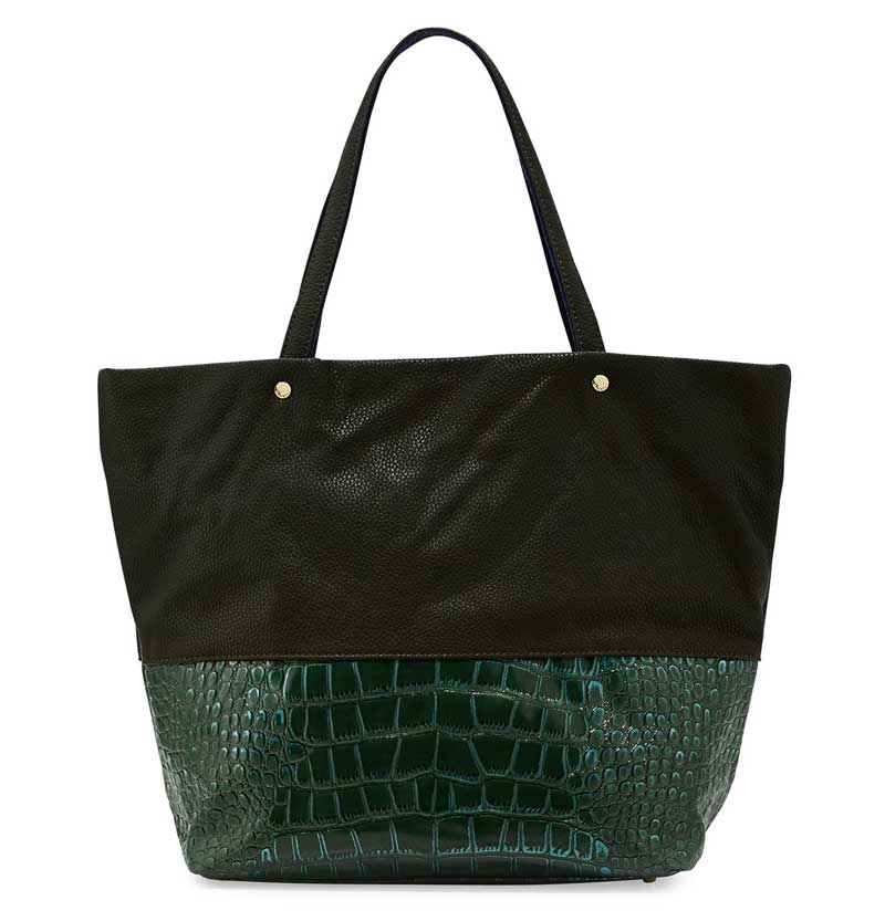 Deux Lux Essex Faux Leather Faux Croc Tote Bag