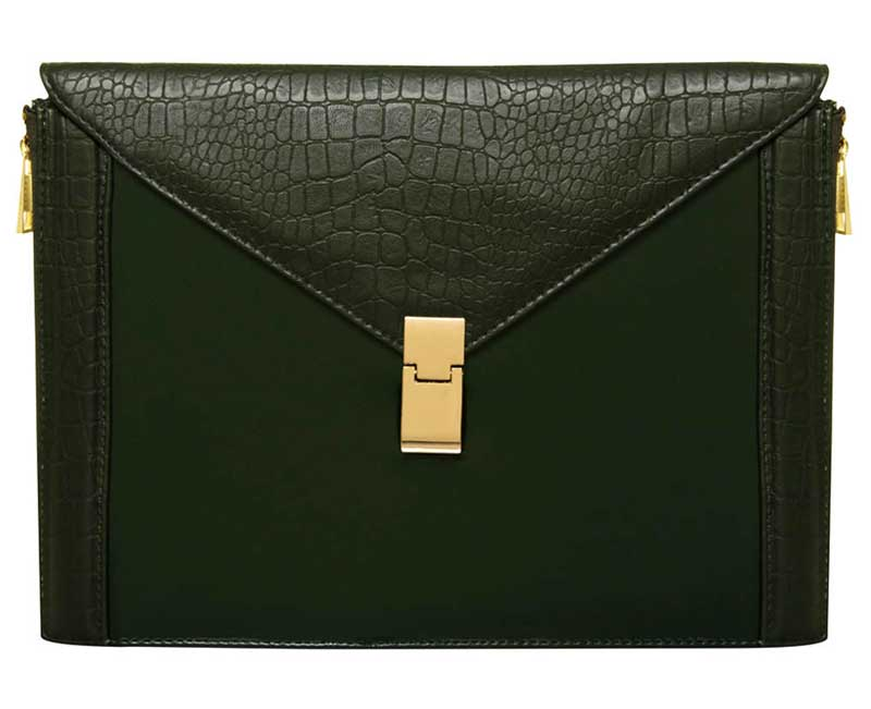 Dorothy Perkins Dark Green Envelope Clutch