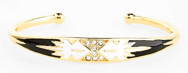 Daily Deal: Enamel & Gold Cuff by Sequin