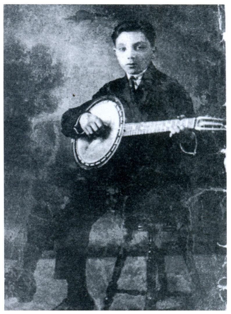 Young Django Reinhardt with Banjo