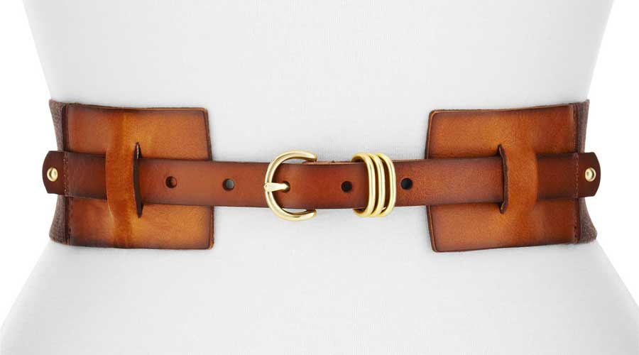 Almost Daily Deal: Linea Pelle Twill and Leather BElt