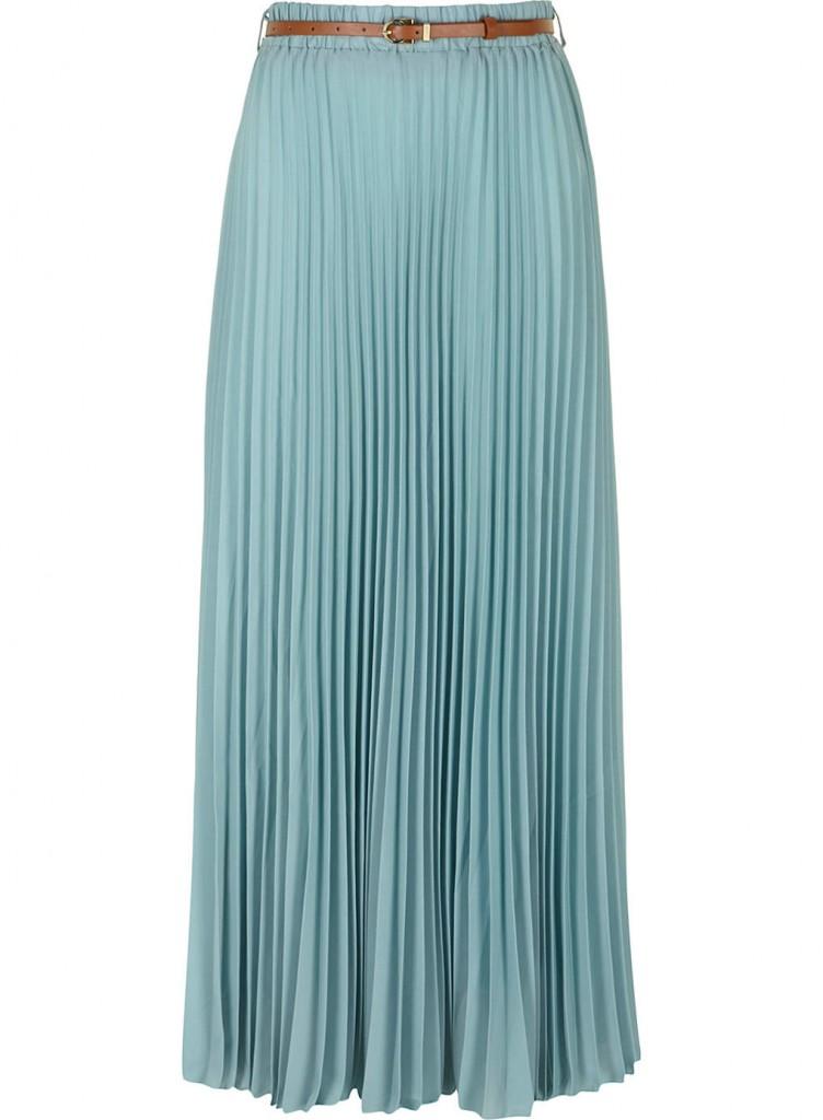 dorothy perkins pleated georgette maxi skirt