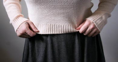 Boohoo x PINS: Cropped Sweater and Skater Dress