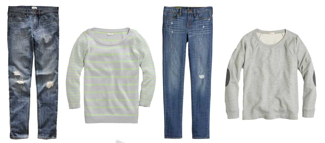 J-Crew Factory Sweaters and Denim