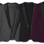 (A)DD: Faux Leather Tuxedo Blazer