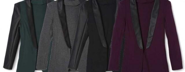Mossimo Faux Leather Sleeve Tuxedo Jacket