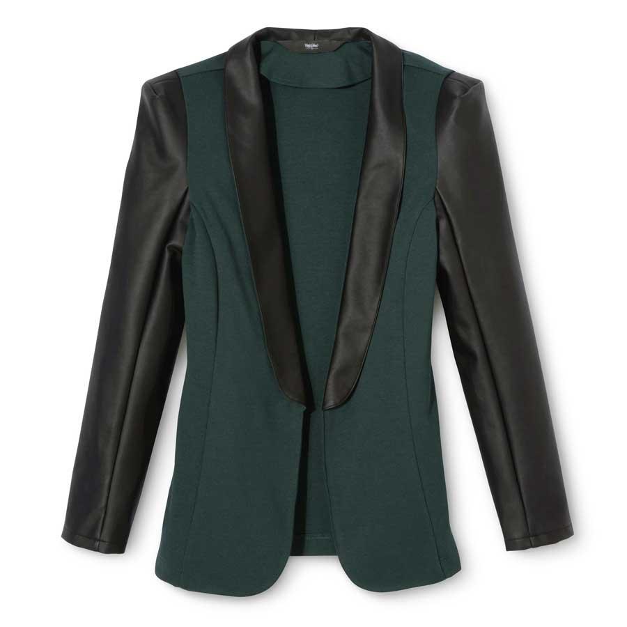 Mossimo Faux Leather Tuxedo Jacket