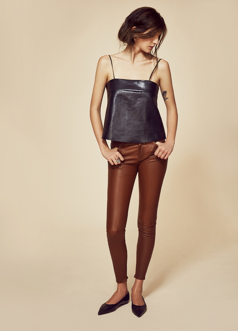 VEDA F/W 2014 Lyell Leather Camisole