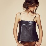 Offbeat Basic: Leather Camisole