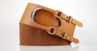 Ralph Lauren Hook Closure Stretch Belt Tan