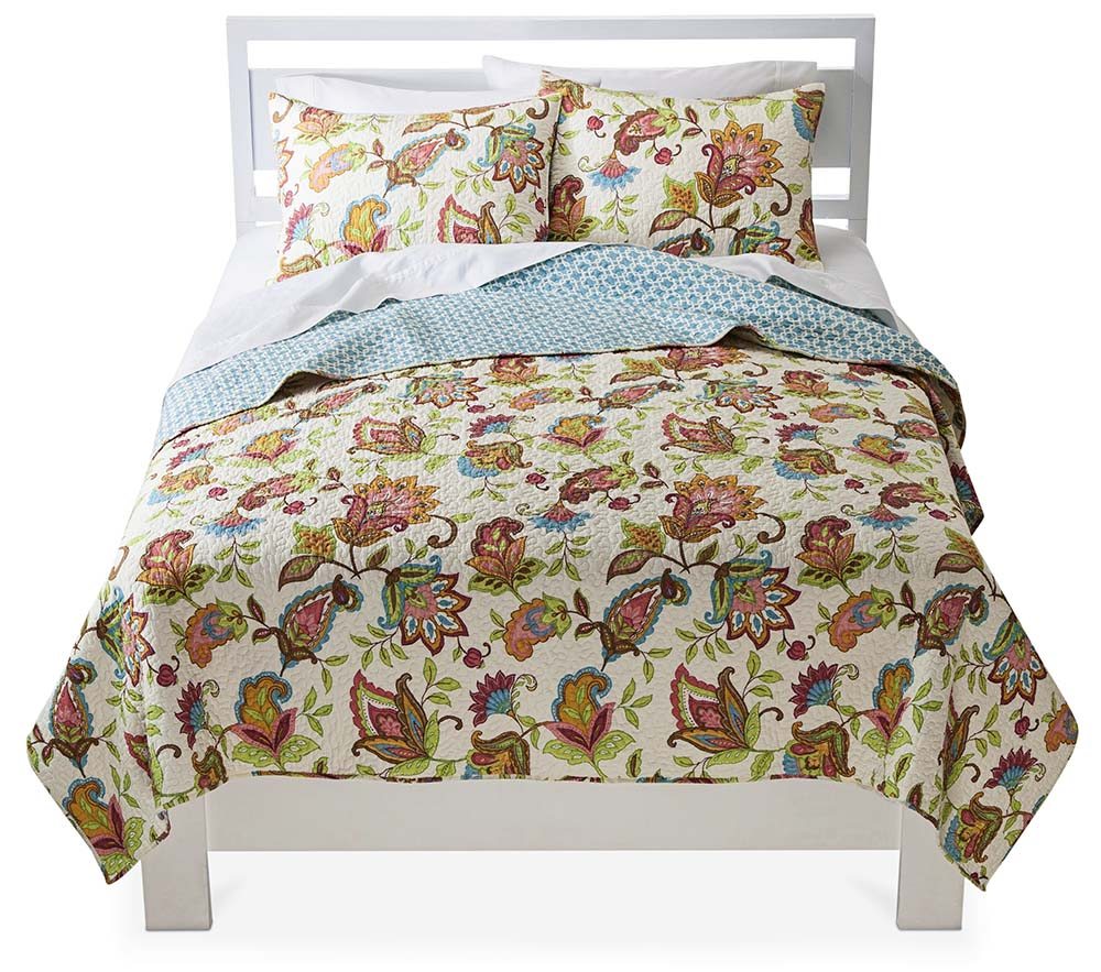 Avery Floral Quilt Set