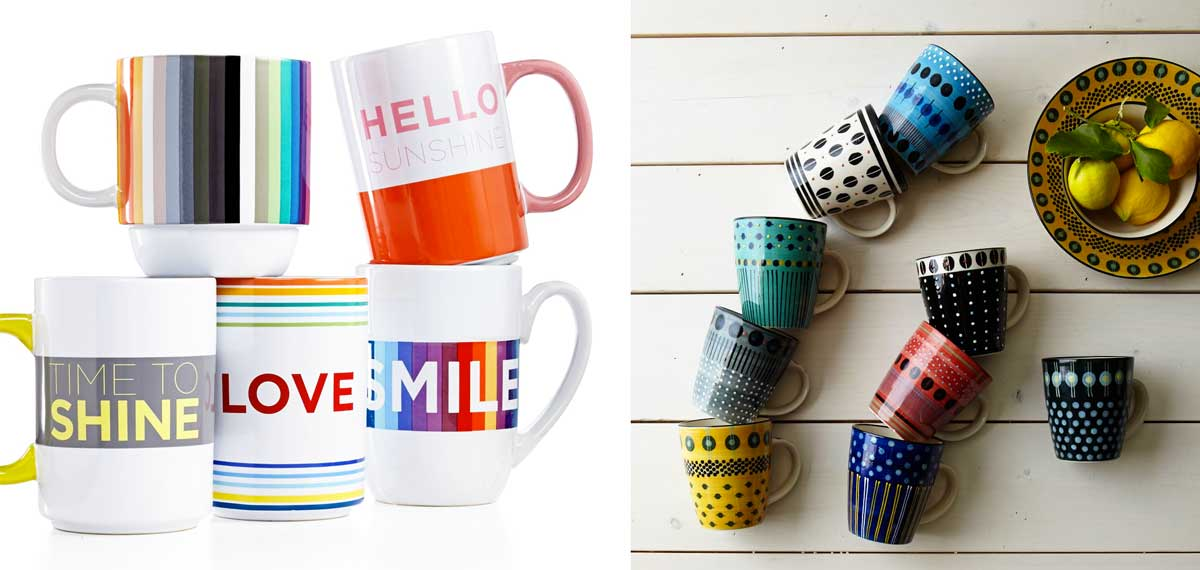 Beautiful Mug Collections from Macys and West Elm