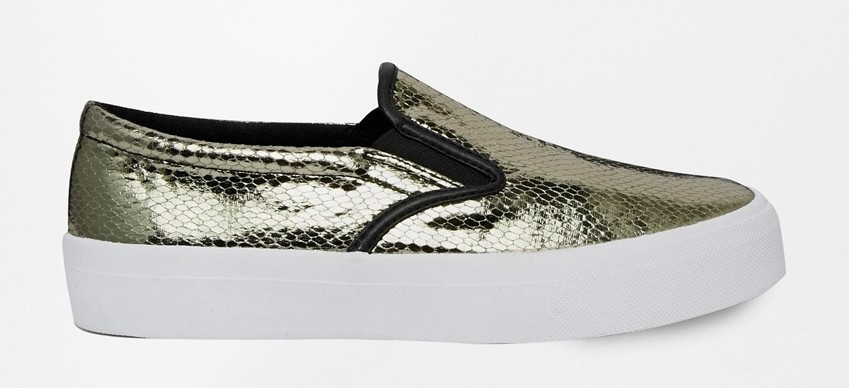 ASOS Silver Slip On Sneakers