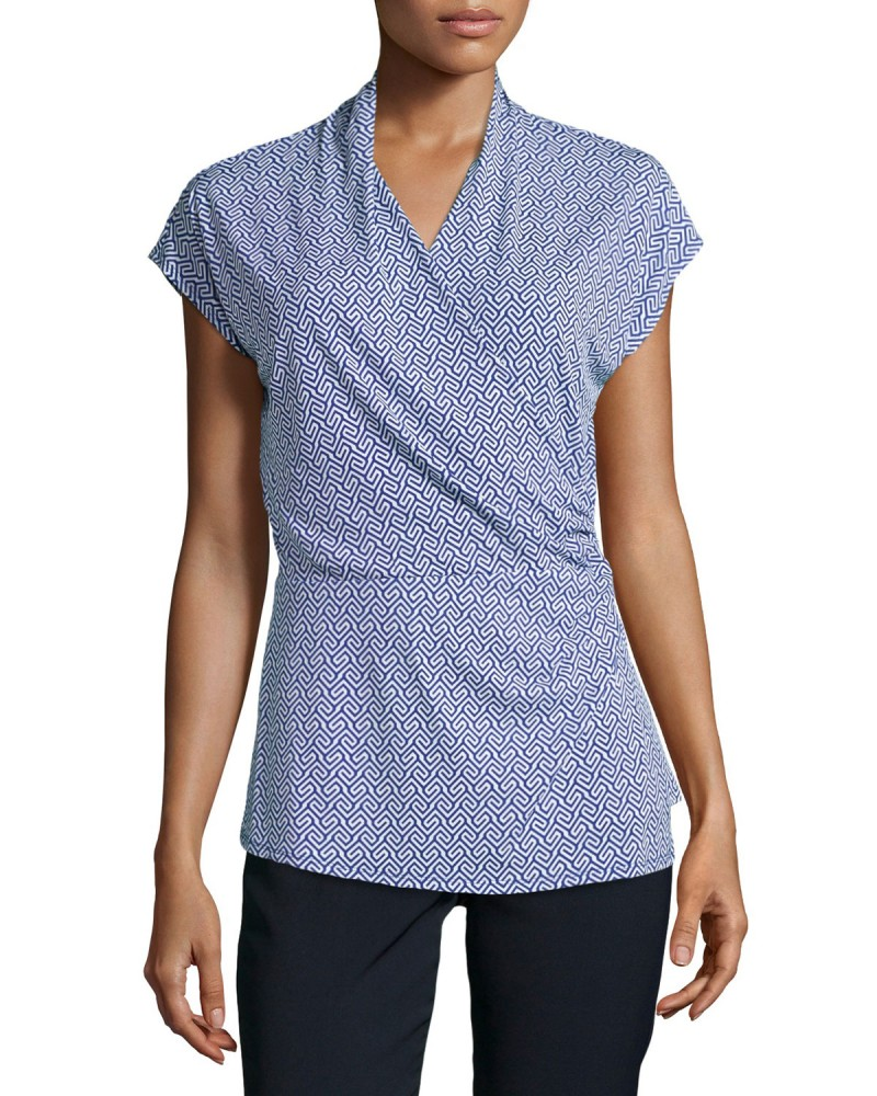 Laundry by Shelli Segal Wrap Crossover Shirt