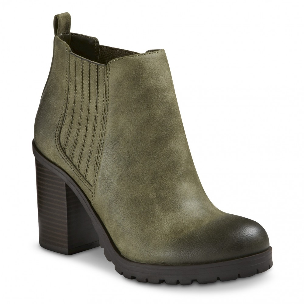 Sam and Libby Green Ankle Boots