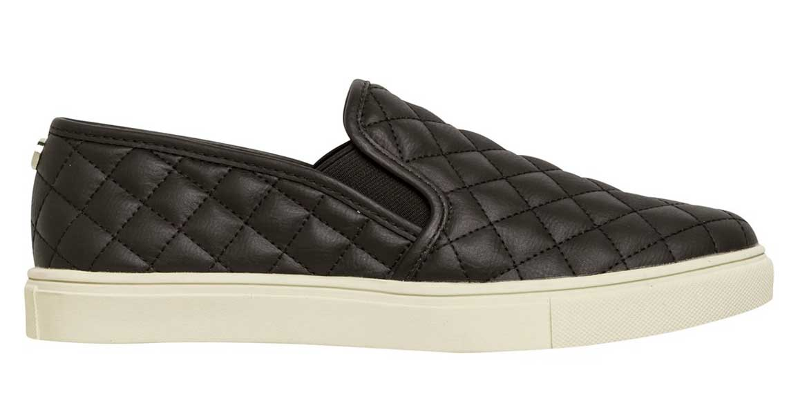 Steve Madden Quilted Leather Ecentrqc Slip on Sneakers