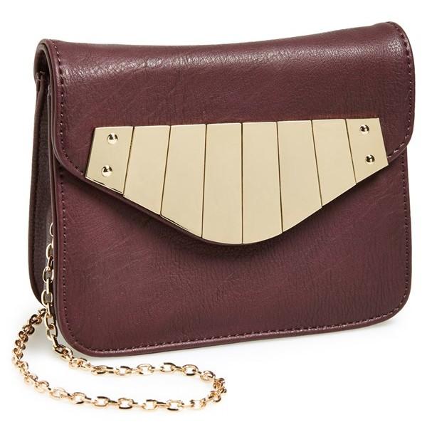 leith metallic satchel