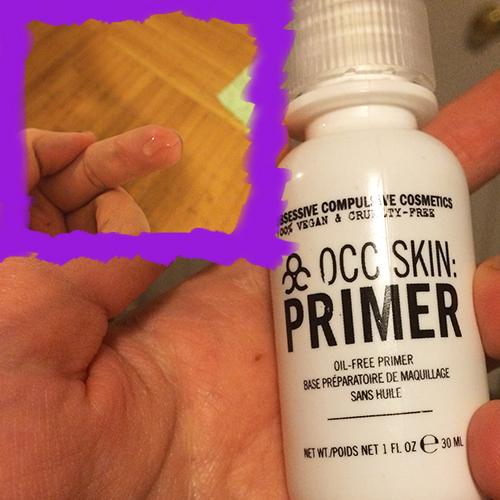 Applying OCC Lip Tar with Primer