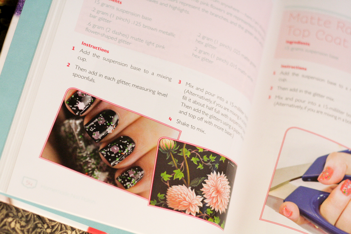 Homemade Nail Polish book detail floral manicure