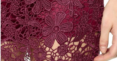 Re Named Lace Overlay Skirt Oxblood