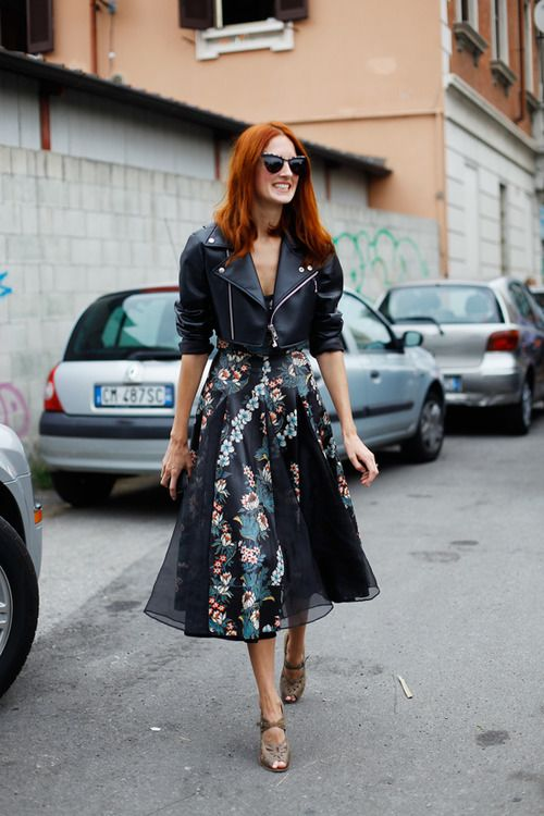 Floral Midi Skirt via Trumpet and Horn