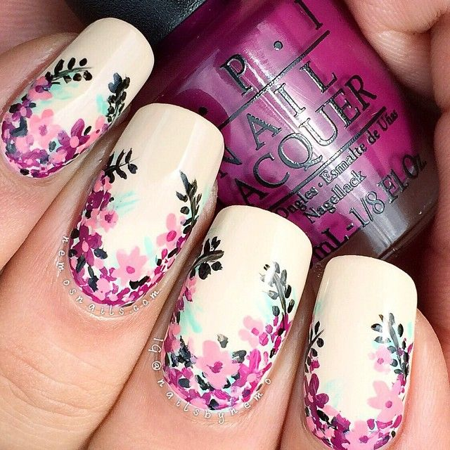 DIY Floral Nail Art Inspiration And Tutorials